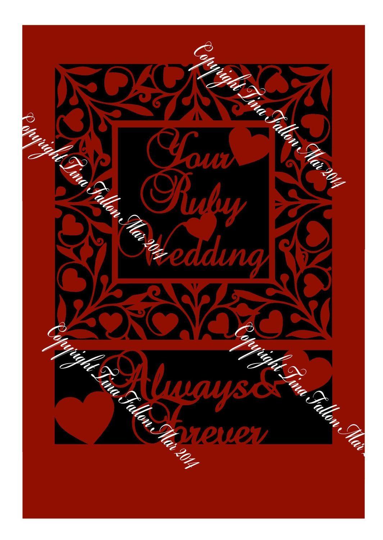 Ruby Anniversary Keepsake A4