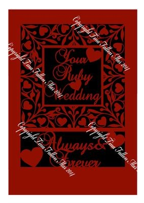 Ruby Anniversary Keepsake A4