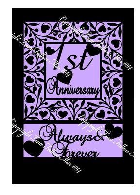 1st FIRST Anniversary Keepsake A4
