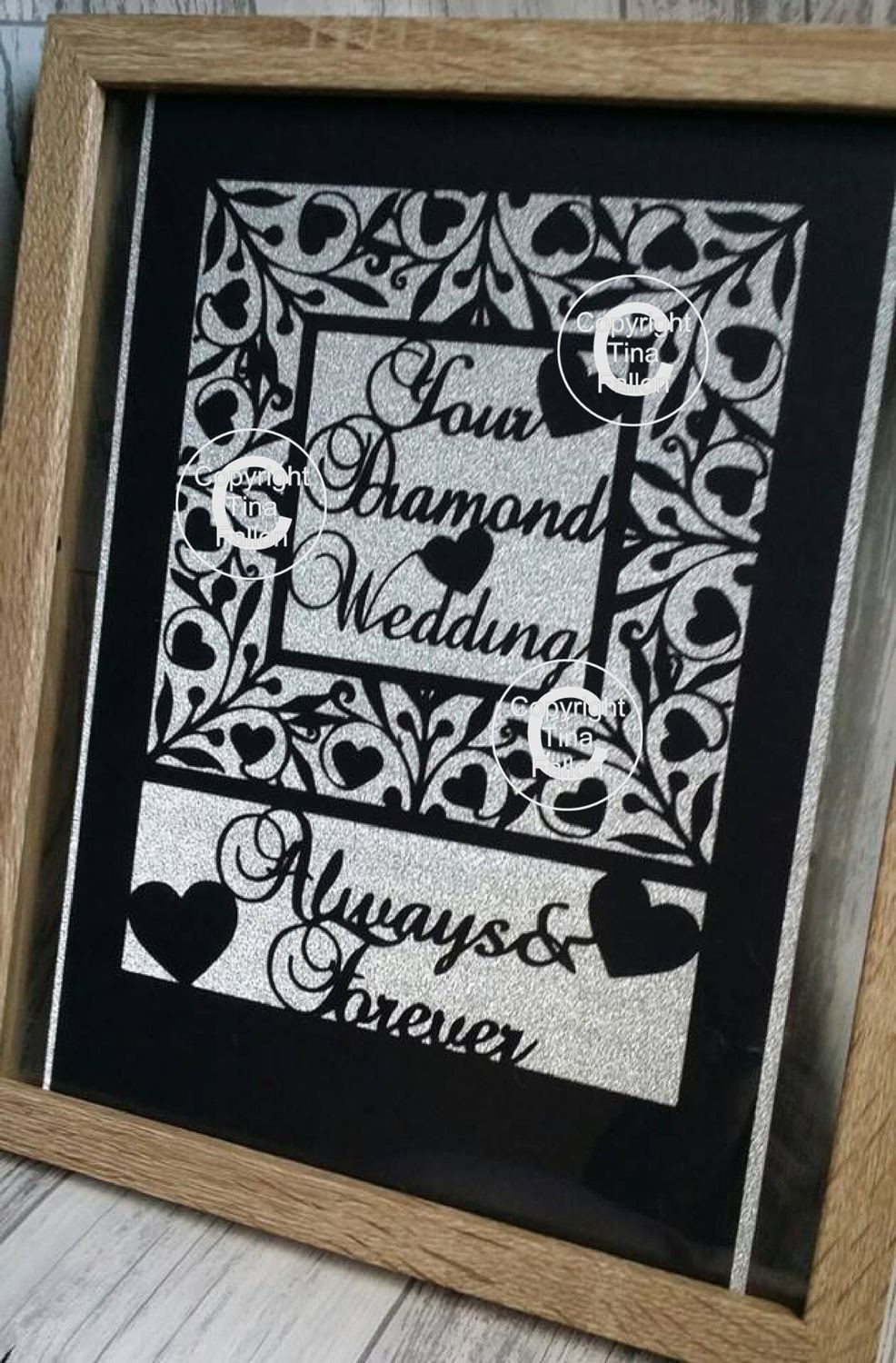 Diamond Anniversary Keepsake A4.