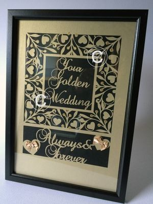 Golden Anniversary Keepsake A4