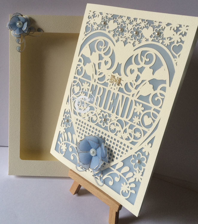Friend Birthday Card (with box)  beautiful cutout design fcm