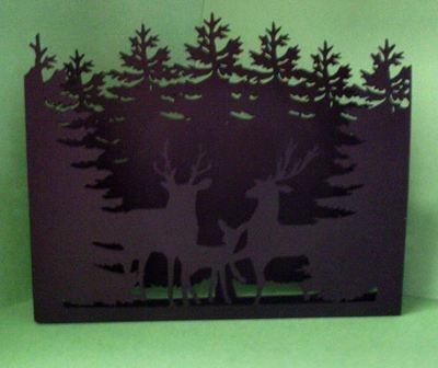 Deer In Forest Christmas Luminaire / tealight holder
