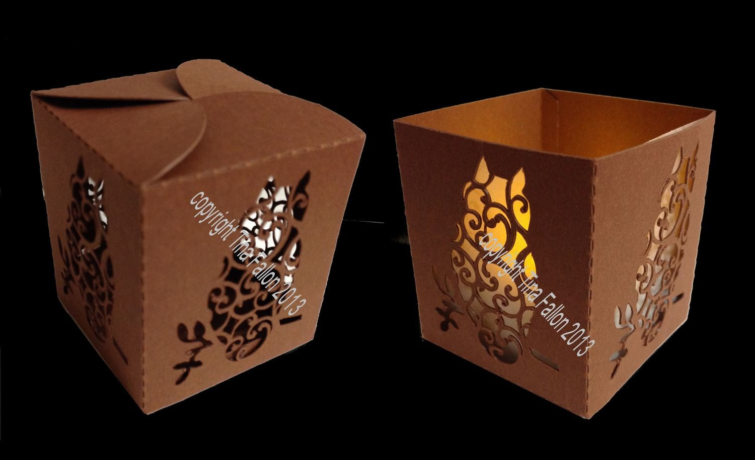 Luminaire or Gift Box Owl  2 files