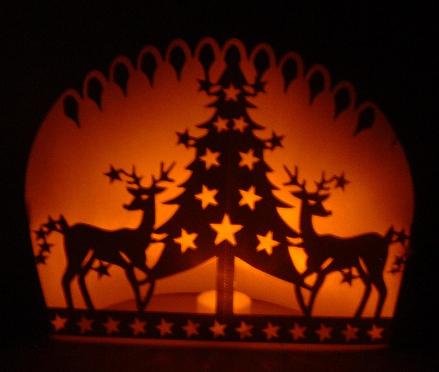 Reindeer and Tree Dual Purpose Template