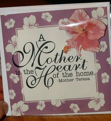 Mothers card no 11 Print n Cut includes card and insert