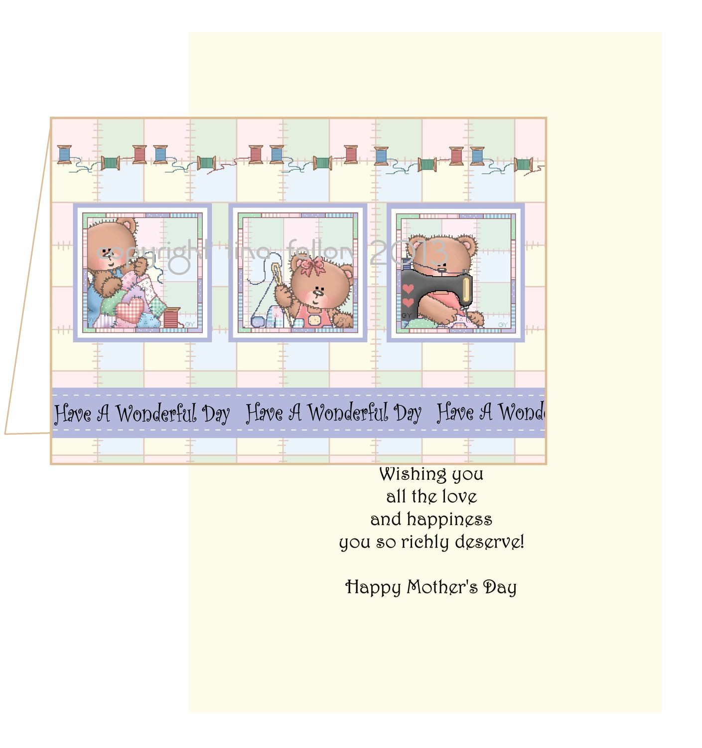 Mothers card no 6 Print n Cut includes card and insert