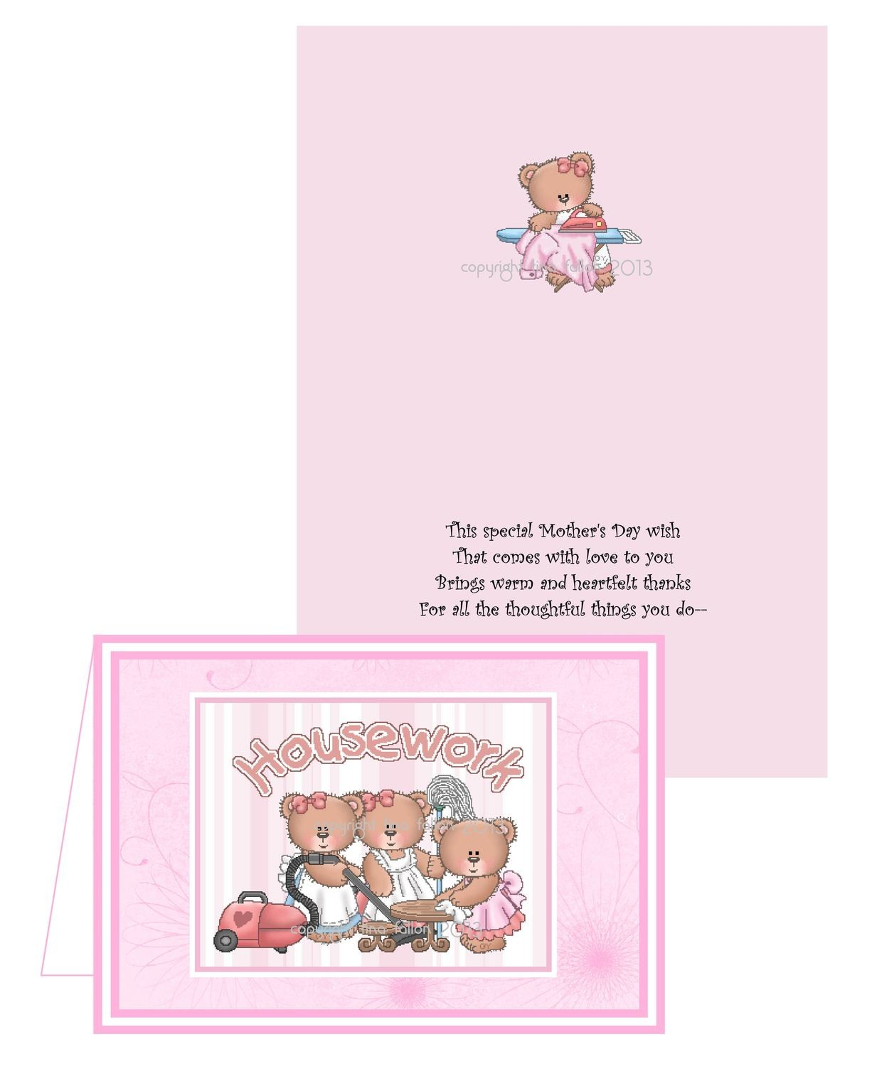 Mothers card no 4 Print n Cut includes card and insert