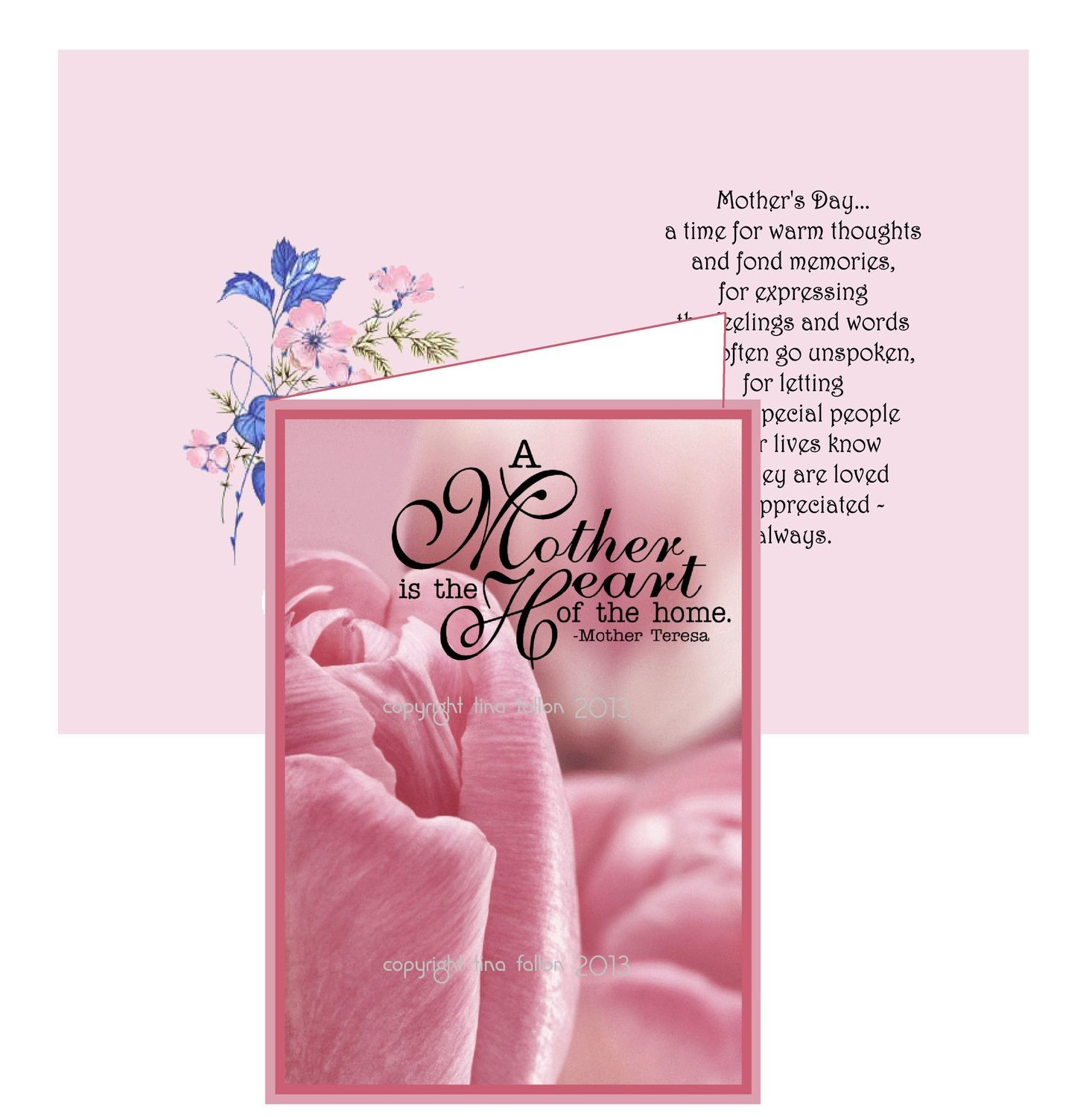Mothers card no 1 Print n Cut includes card and insert