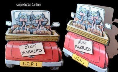 Just Married Civil Wedding Partnership Print n Cut