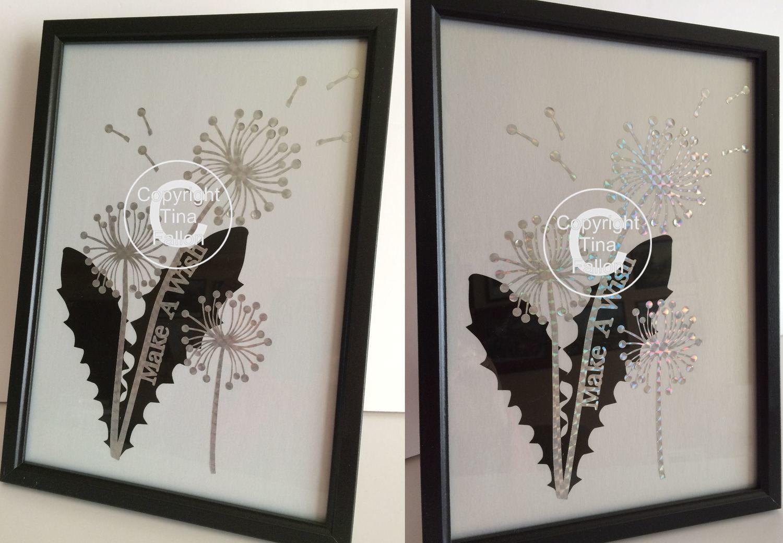 Dandelion Make A Wish 3  Word Art  FCM Scan n Cut