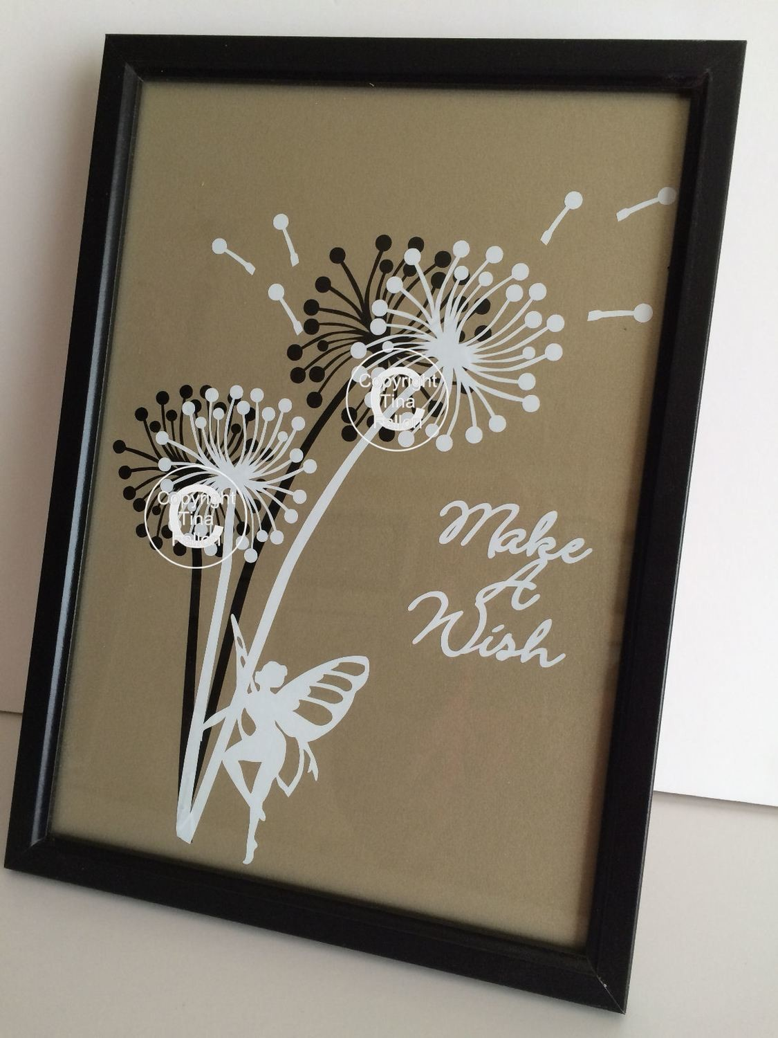 Dandelion Make A Wish 5  Word Art  FCM Scan n cut