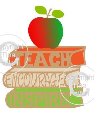 TEACHER - Teach Encourage multi layered topper