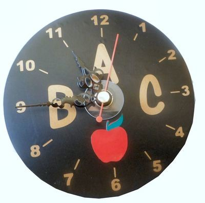 Teacher ABC Clock Face for CD's / 45's / LP's and 78's