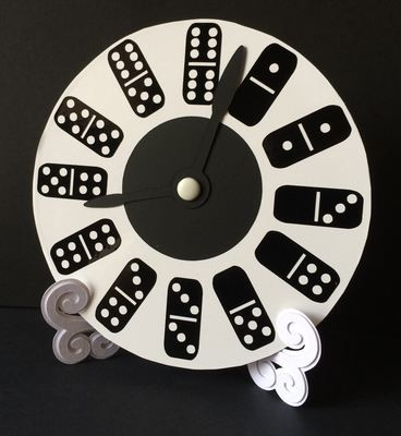 Dominoes Clock Face for CD's / 45's / LP's and 78's