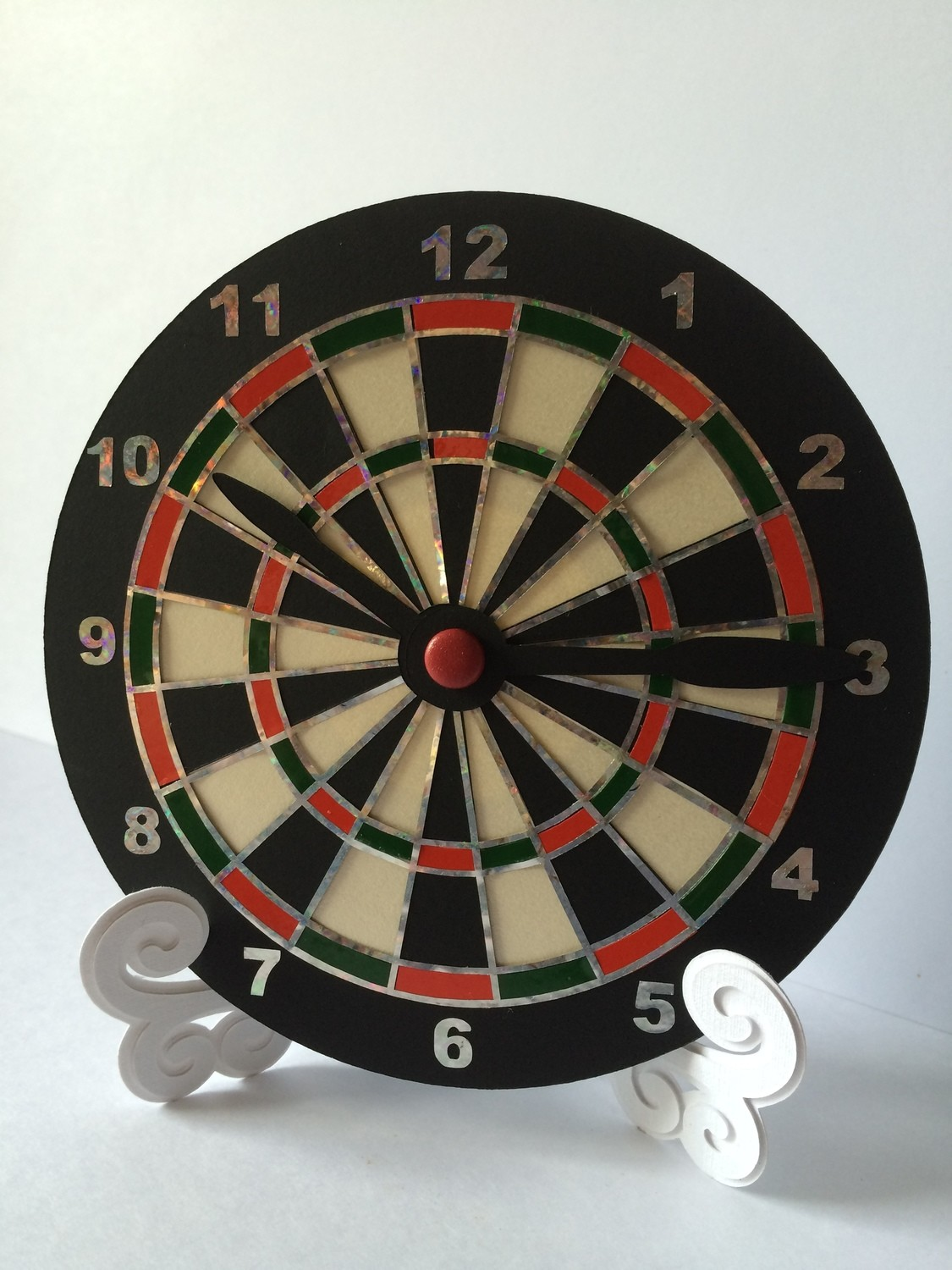 Dart Board Clock Face for CD's / 45's / LP's and 78's
