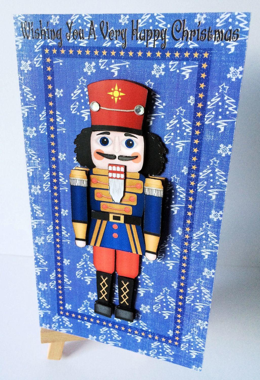 Christmas Nutcracker -Soldier   Print N Cut 3d Card approx 6 x 3.5 inches  - studio file