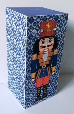 Christmas Nutcracker -Soldier   Print N Cut Gift Box  - studio file