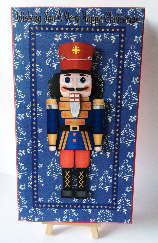 Christmas Nutcracker -Soldier   Print N Cut Large Card Topper  - studio file