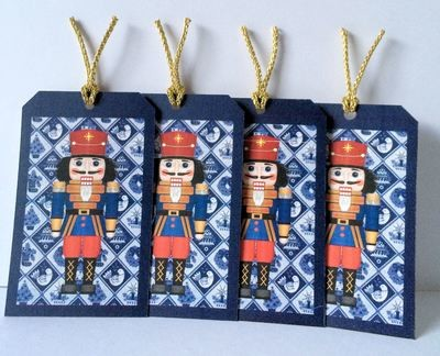 Christmas Nutcracker -Soldier   Print N Cut Gift tags studio file