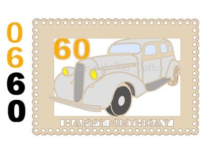 60th Car Card Topper