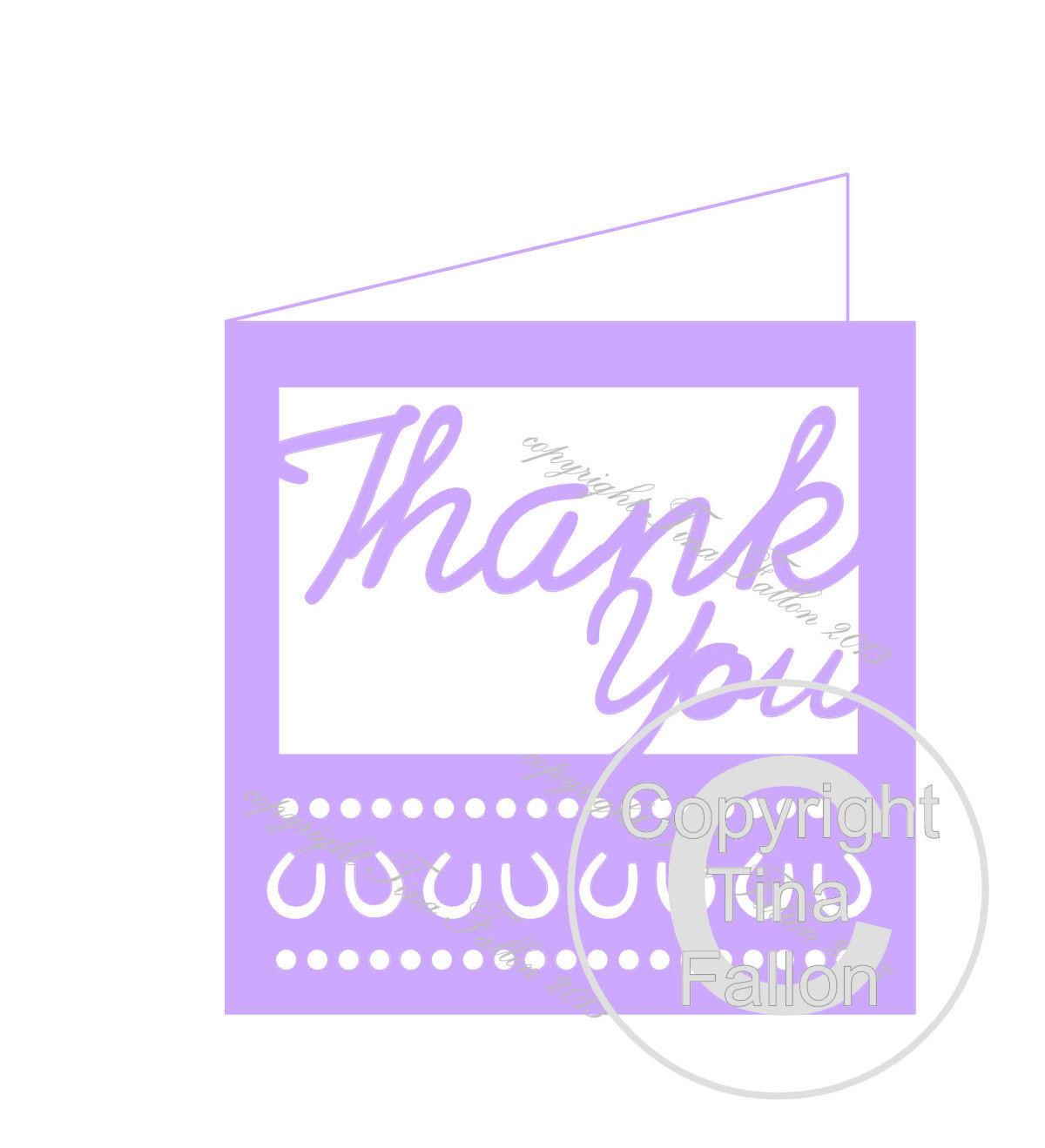 Wedding Thank You Card Template No1