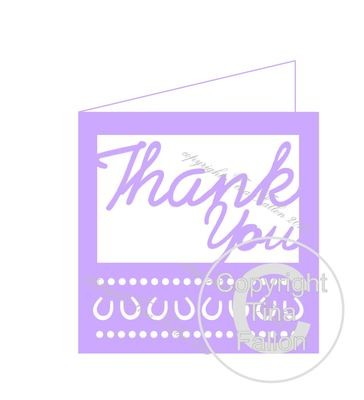 Wedding Thank You Card Template No1