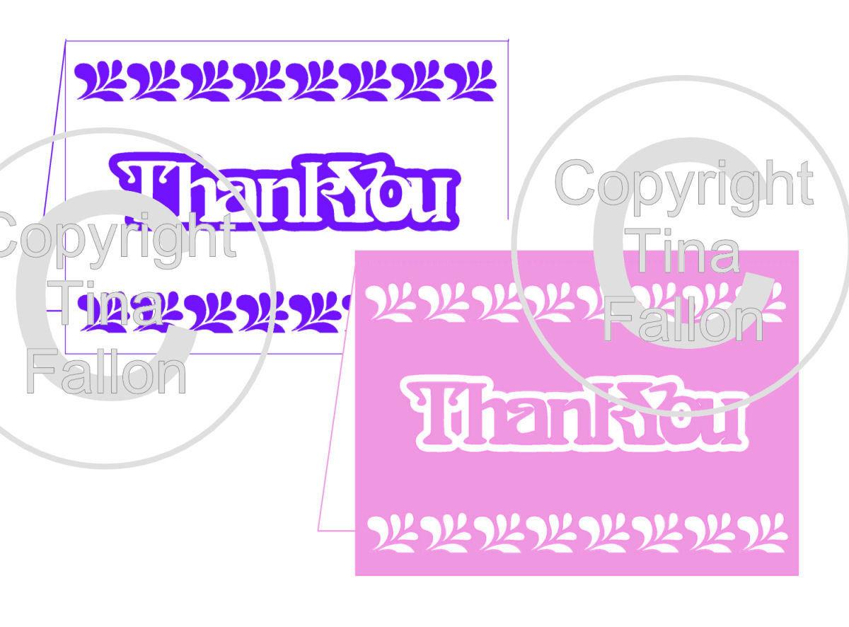 Thank You Card Template No6