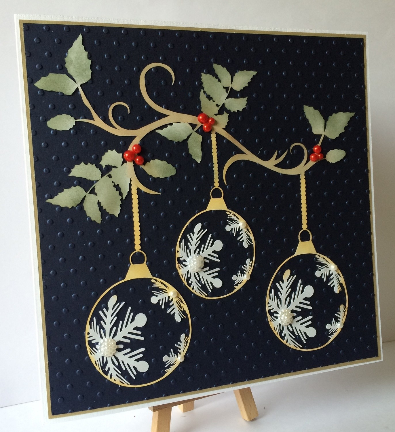 Hanging Baubles Card Topper