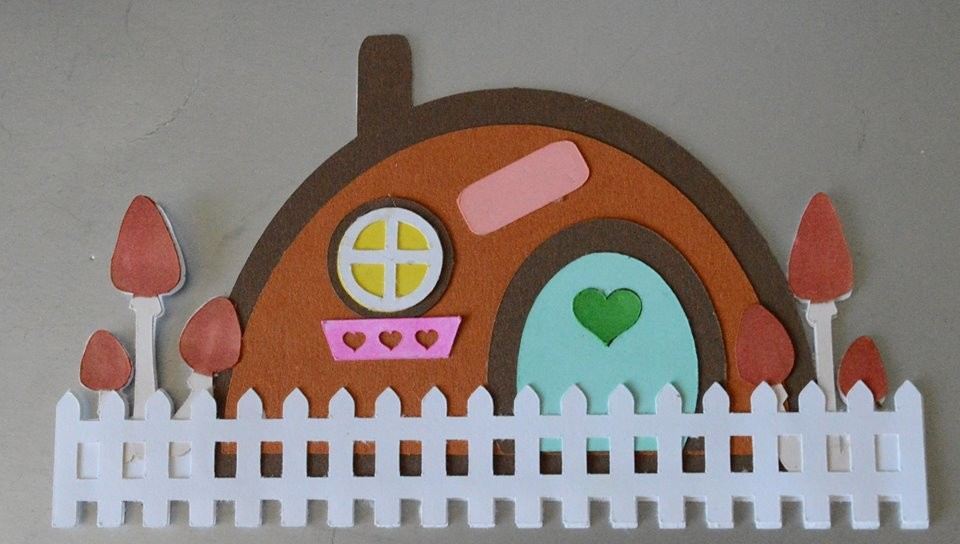 Fairy House Shaped Card Base