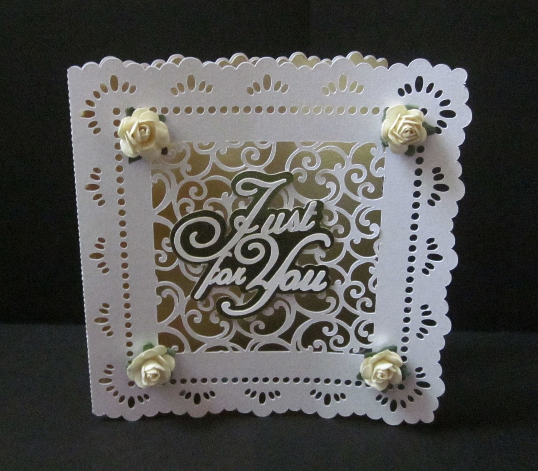 Filigree Design Set Square Card No 1
