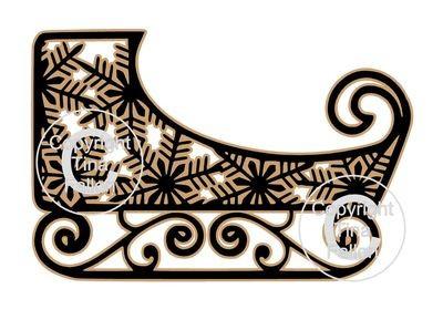 Snowflake Sleigh Christmas Card layeredTOPPER