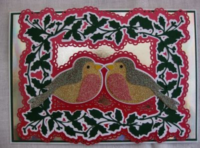 Christmas Robin layered card topper