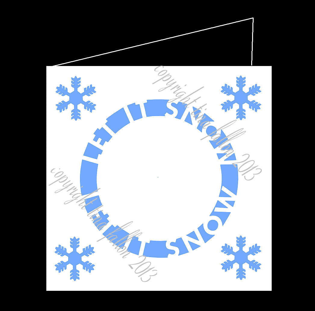 LET IT SNOW CIRCLE - CARD TEMPLATE