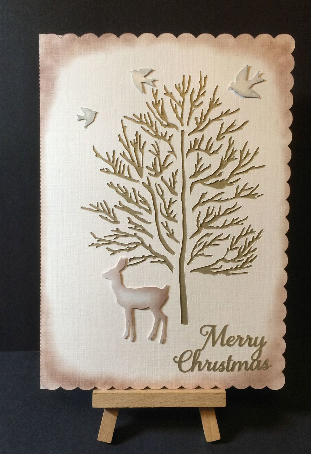 Christmas  - Forest Tree and Deer Card