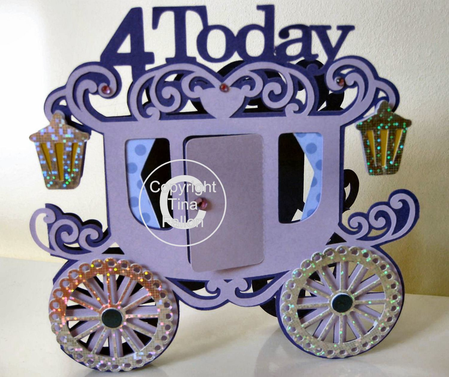Princess Carriage 4 today Card Template