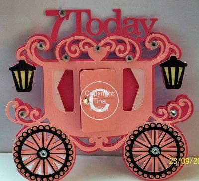 Princess Carriage 7 today Card Template