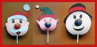 SET of 3  Christmas Chupa Chups Lolly holder SVG /SCAL/SCUT4
