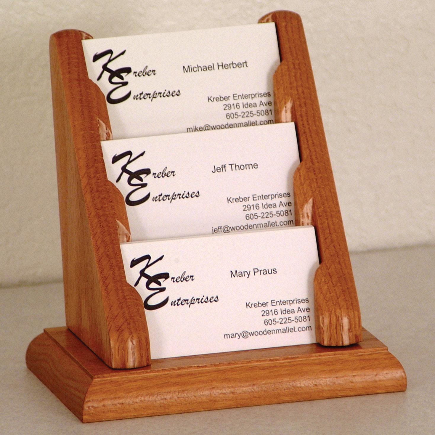 3 Pocket Business Card Display