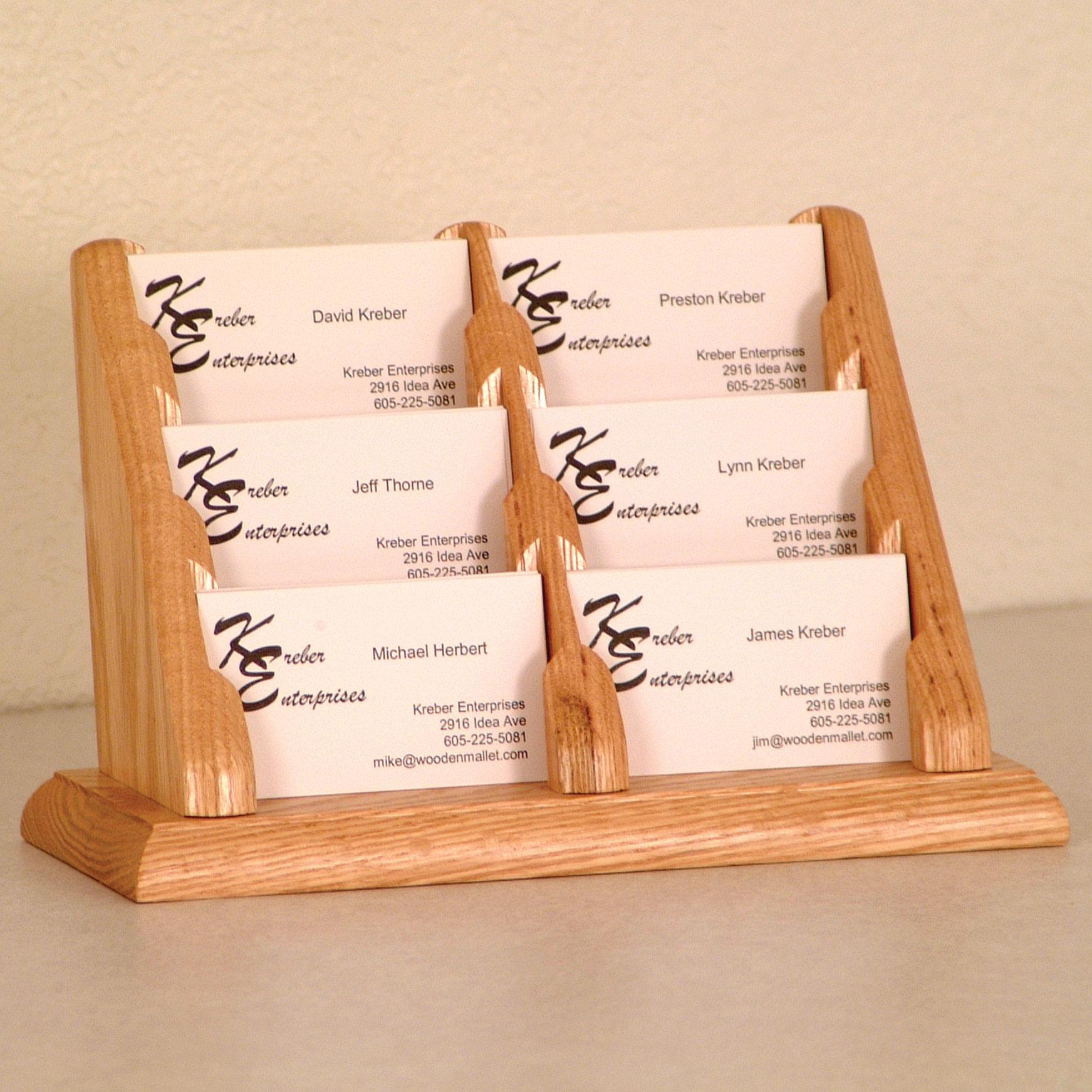 6 Pocket Business Card Display