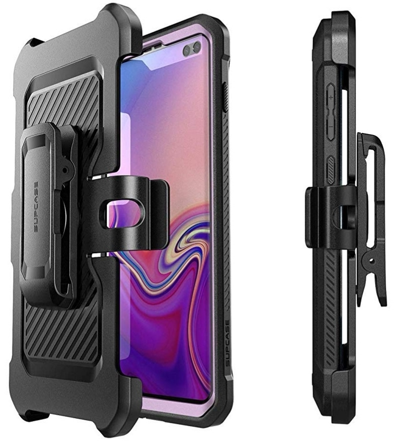 Case Protector Galaxy S10 Plus SX Supcase Armadura Negro