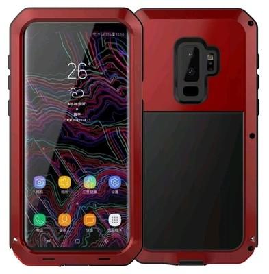 Case Galaxy S9 Plus Metal c/ Pernos 360 con TPU Amortiguante Rojo Vino