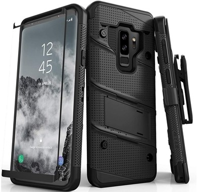 Case Funda Galaxy S9 Plus S9+ Z-bold c/ Vidrio Templado 9H Negros