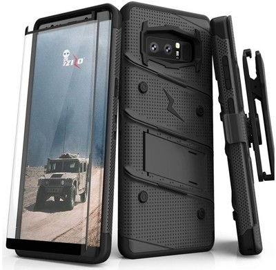 Case Funda Galaxy Note 8 Z-bold c/ Vidrio Templado Negro Total