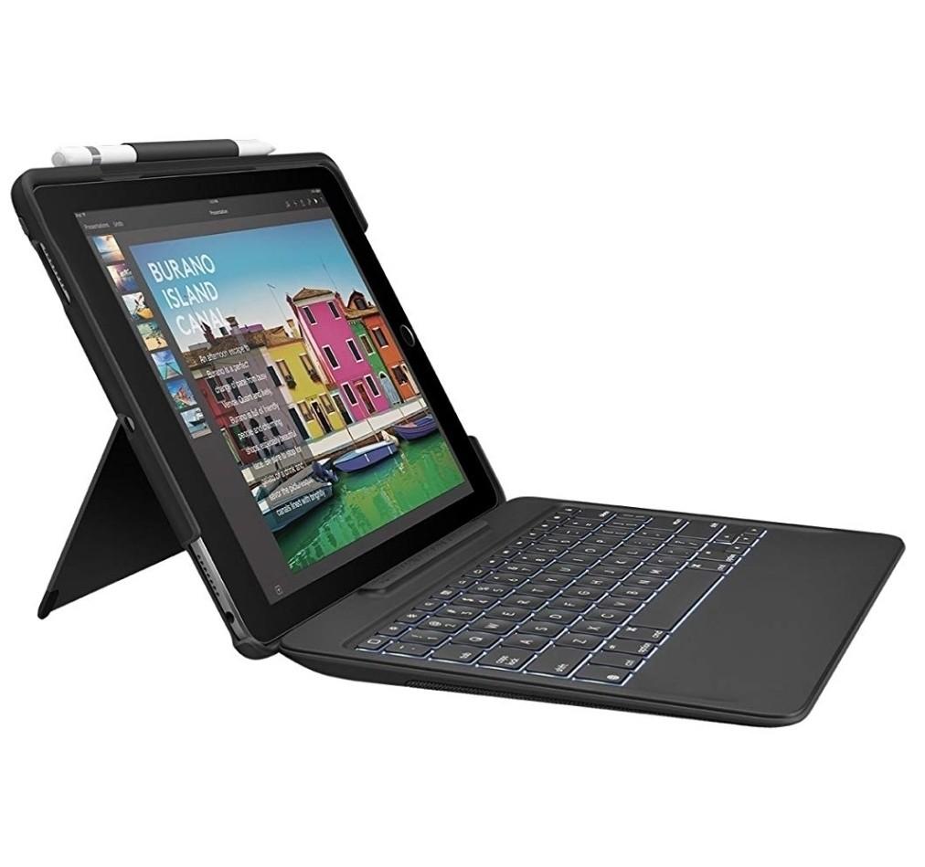 Case Teclado Ipad Pro 10.5 Logitech Smart Conector Negro