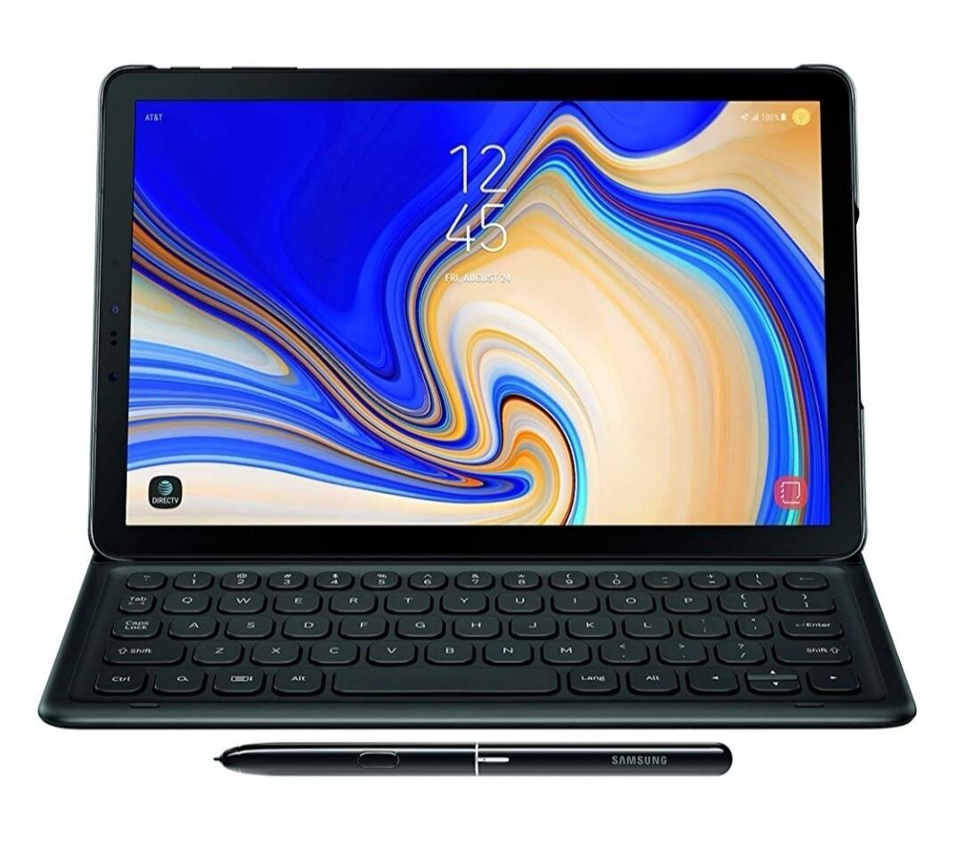 Samsung Electronics EJ-FT830UBEGUJ Galaxy Tab S4 Book Cover Teclado, Negro