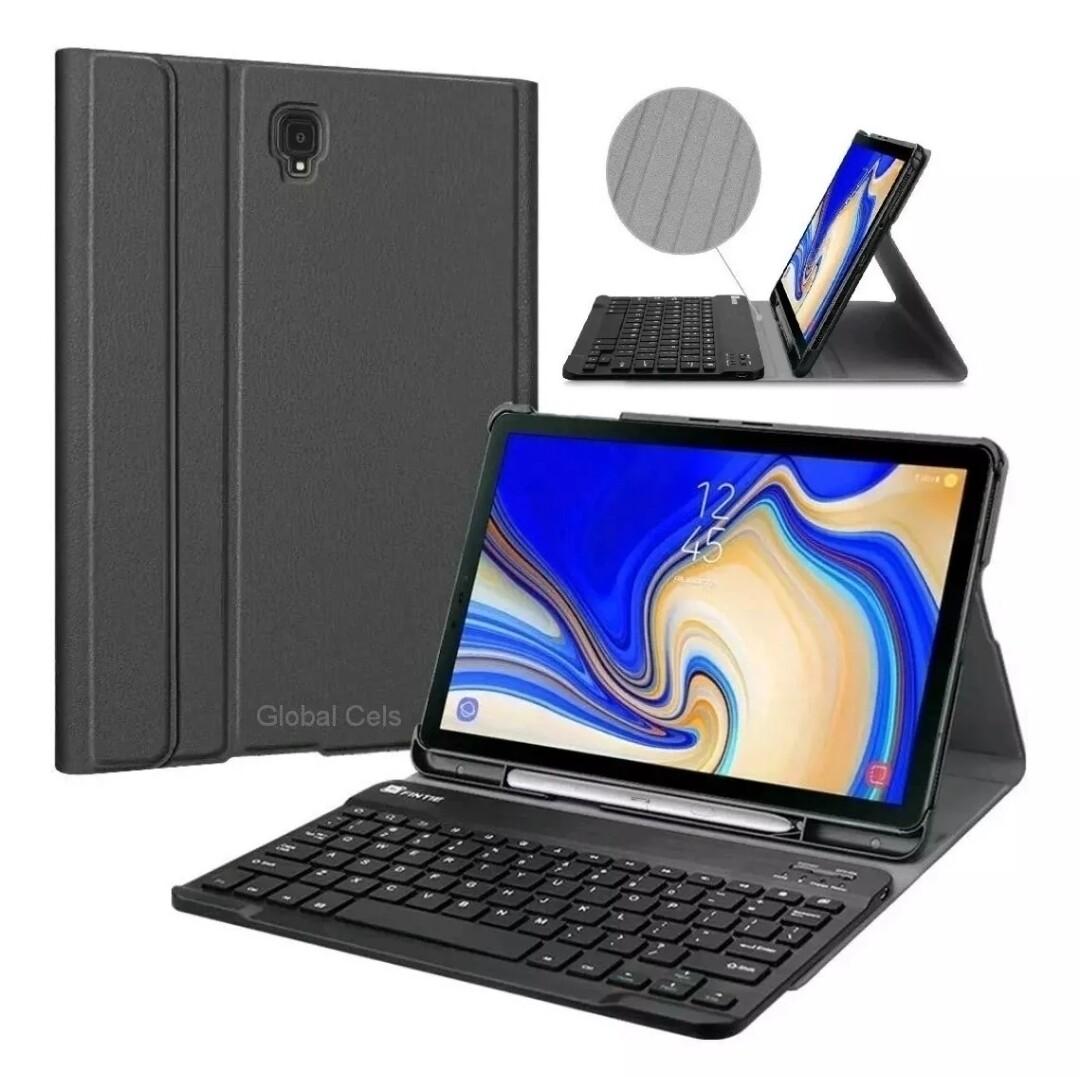 Case Teclado Bluetooth Galaxy Tab S4 T830 c/ Porta Lápiz Negro