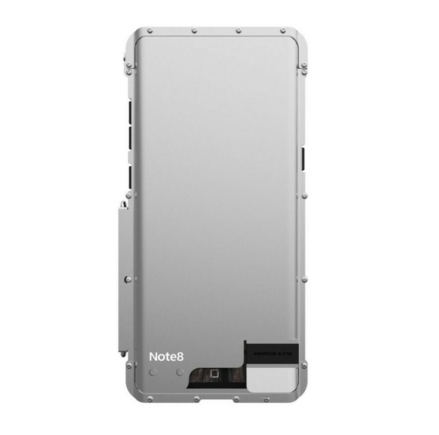 Case Galaxy Note 8 Metal Acero Empernado c/ Policarbonato Tapa Parante Plata