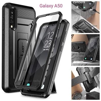 Case Samsung Galaxy A50 Armadura Funda c/ Gancho c/ Parador c/ Prot. de Pantalla
