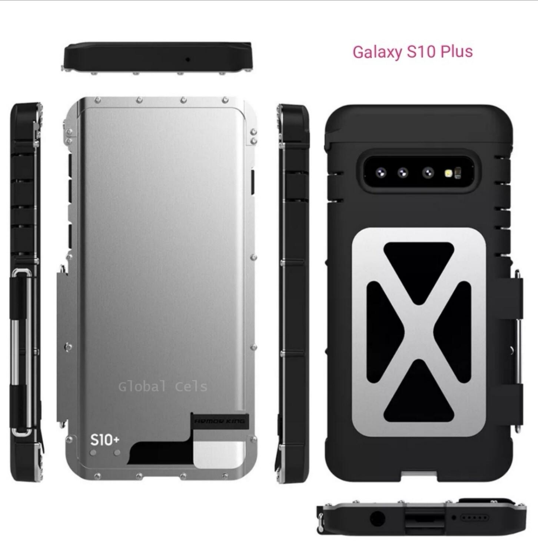 Case Galaxy S10 Plus c/ Tapa Acerado c/ Policarbonato de 4 Partes